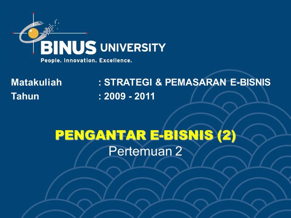 PENGANTAR E-BISNIS (2) Pertemuan 2