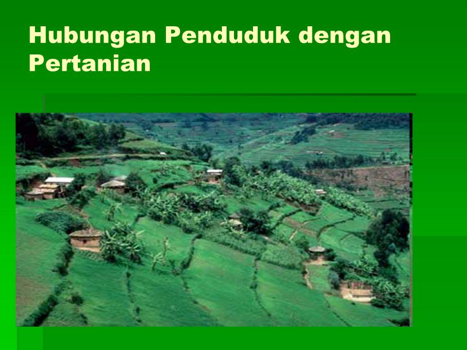 Hubungan Penduduk dengan Pertanian
