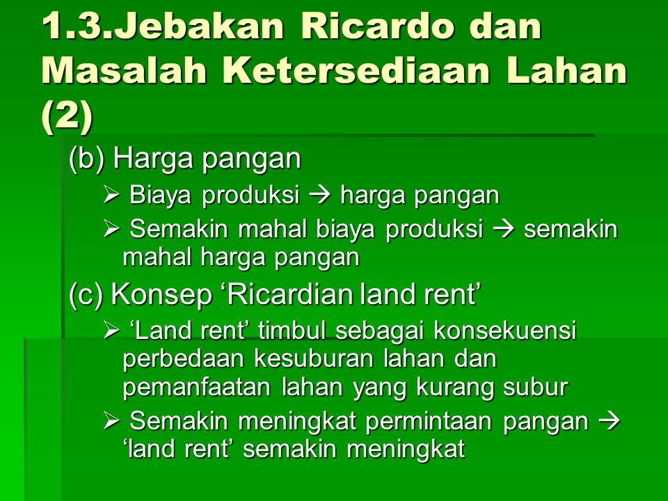 1.3.Jebakan Ricardo dan Masalah Ketersediaan Lahan (2)