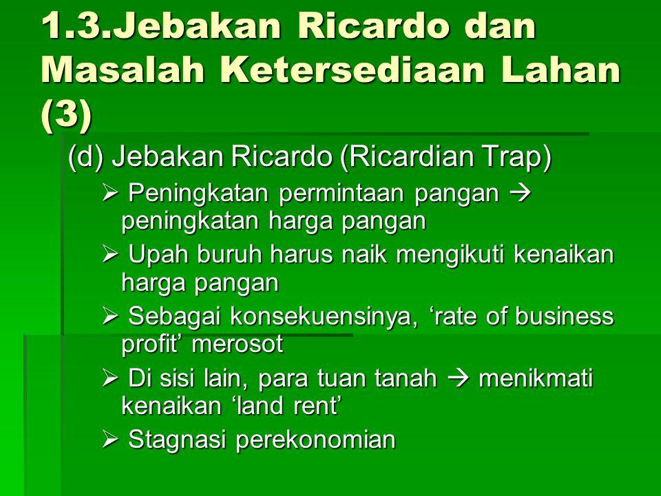 1.3.Jebakan Ricardo dan Masalah Ketersediaan Lahan (3)
