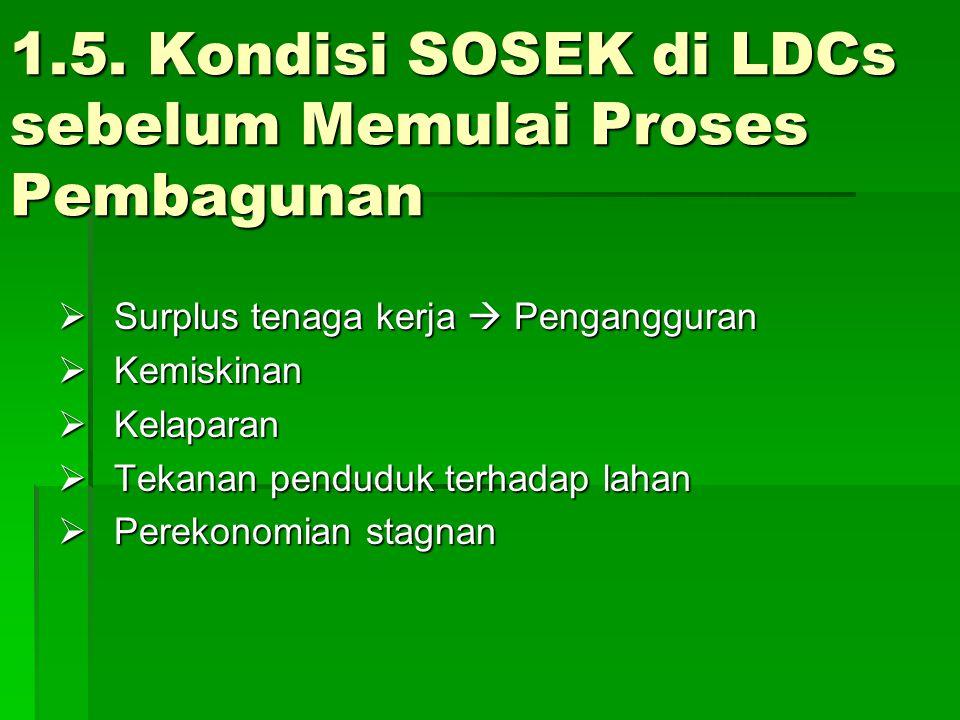 1.5. Kondisi SOSEK di LDCs sebelum Memulai Proses Pembagunan
