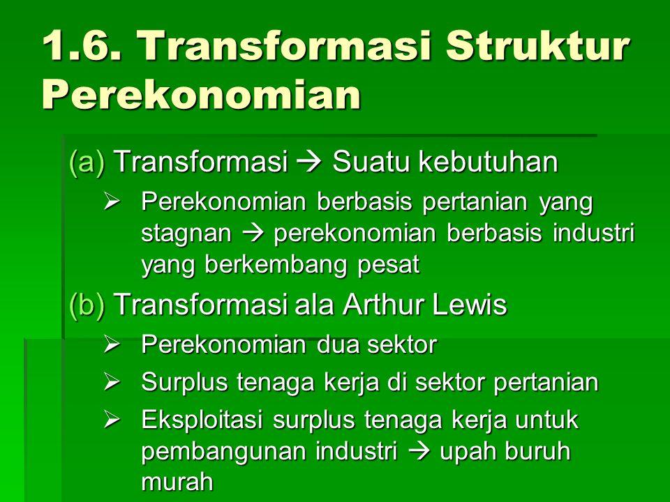 1.6. Transformasi Struktur Perekonomian