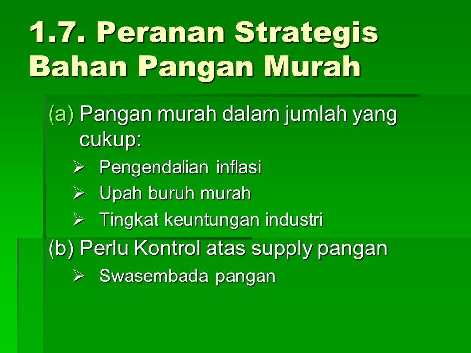 1.7. Peranan Strategis Bahan Pangan Murah