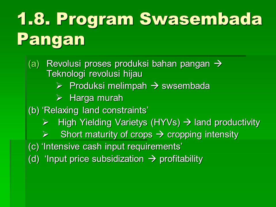 1.8. Program Swasembada Pangan