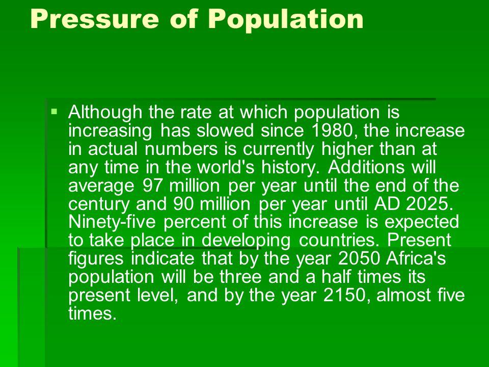Pressure of Population