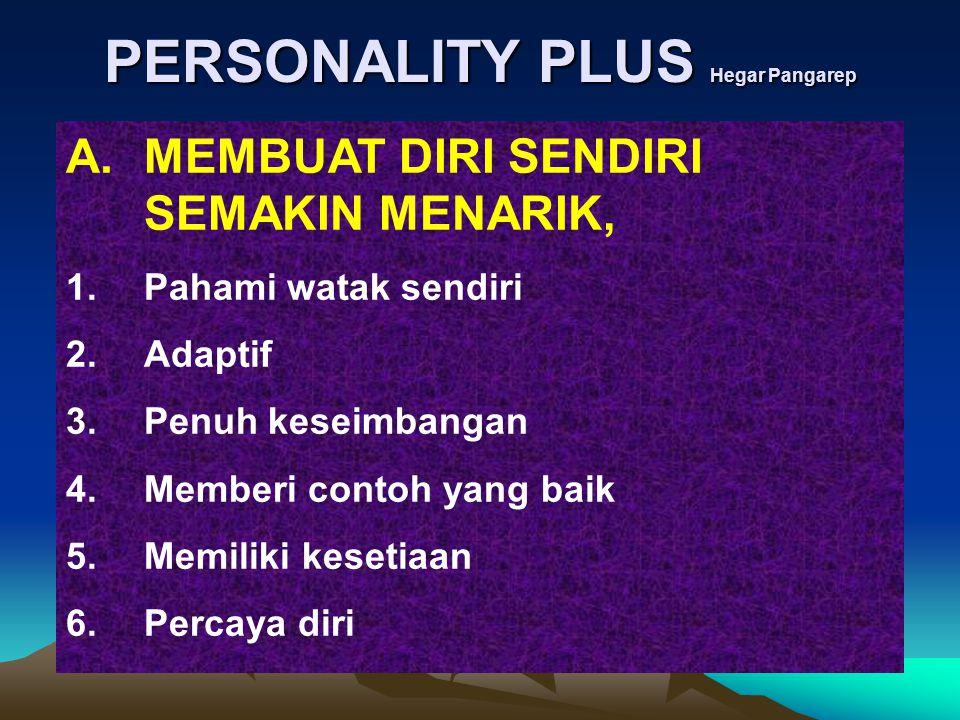 PERSONALITY PLUS Hegar Pangarep