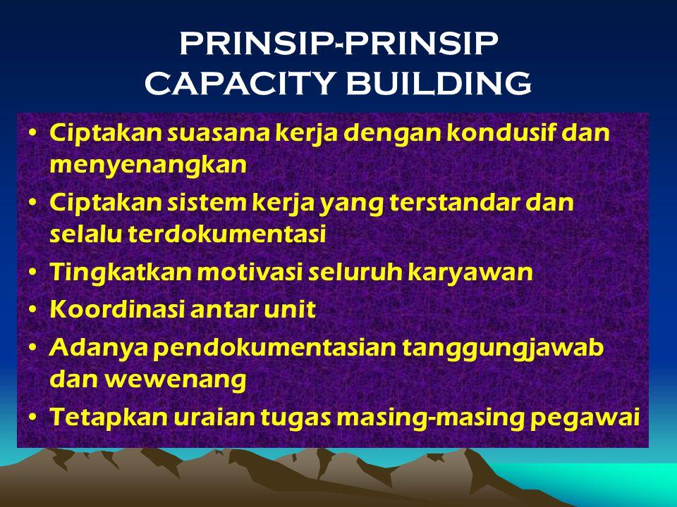 PRINSIP-PRINSIP CAPACITY BUILDING