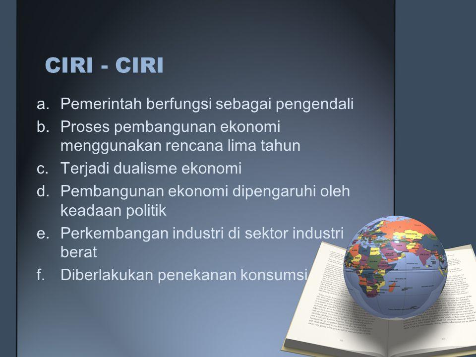 CIRI - CIRI Pemerintah berfungsi sebagai pengendali