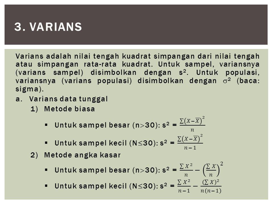3. varians