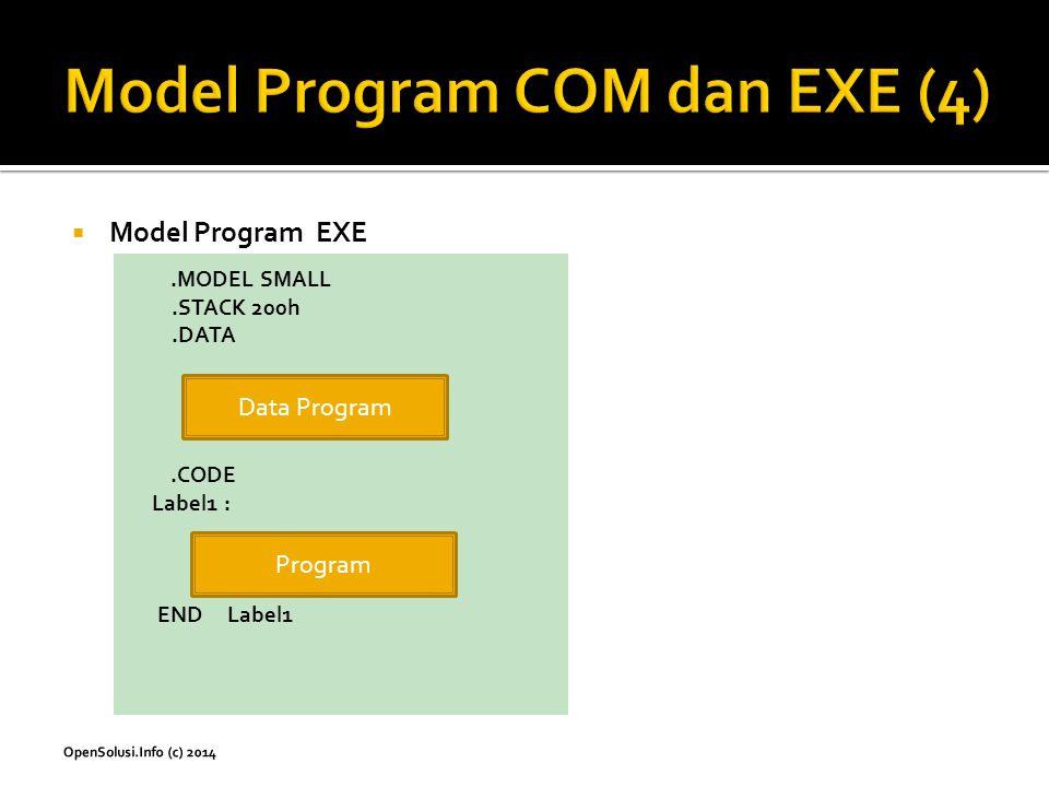 Model Program COM dan EXE (4)