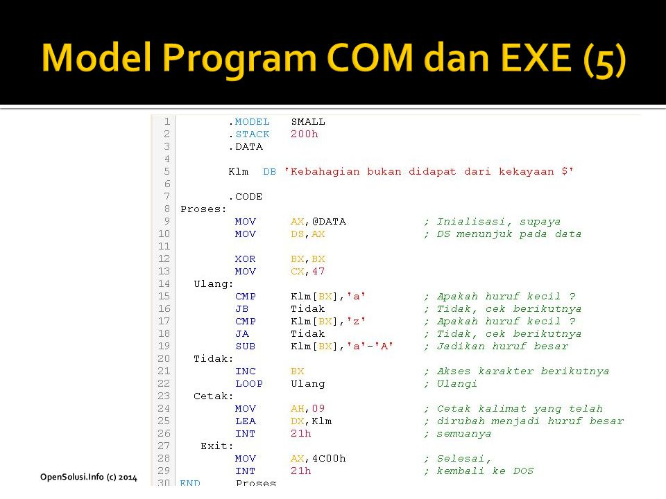 Model Program COM dan EXE (5)