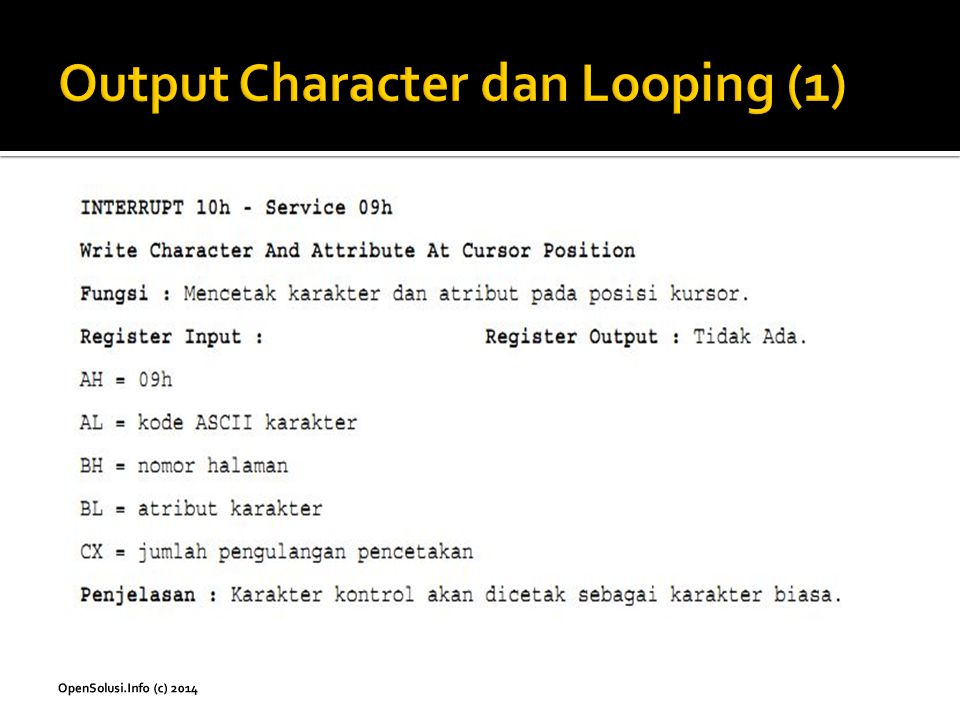 Output Character dan Looping (1)