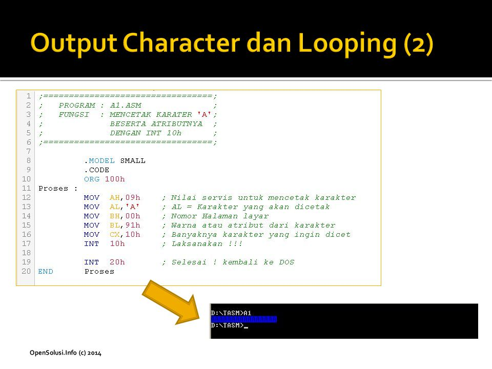 Output Character dan Looping (2)