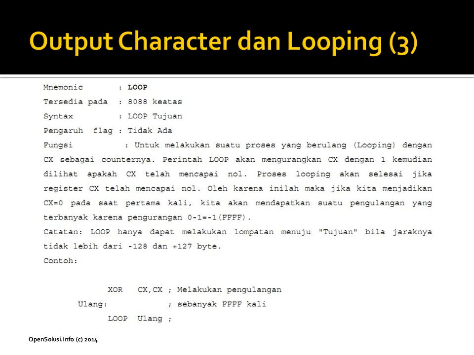 Output Character dan Looping (3)