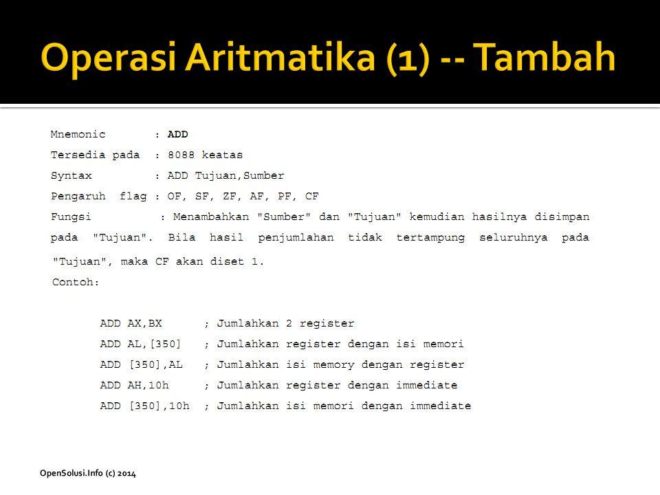 Operasi Aritmatika (1) -- Tambah