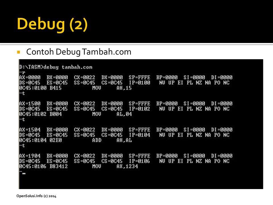 Debug (2) Contoh Debug Tambah.com
