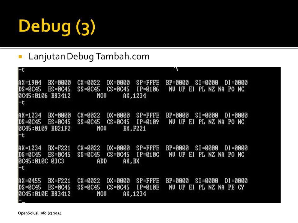 Debug (3) Lanjutan Debug Tambah.com
