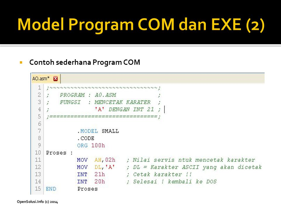 Model Program COM dan EXE (2)