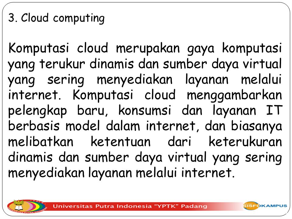 3. Cloud computing