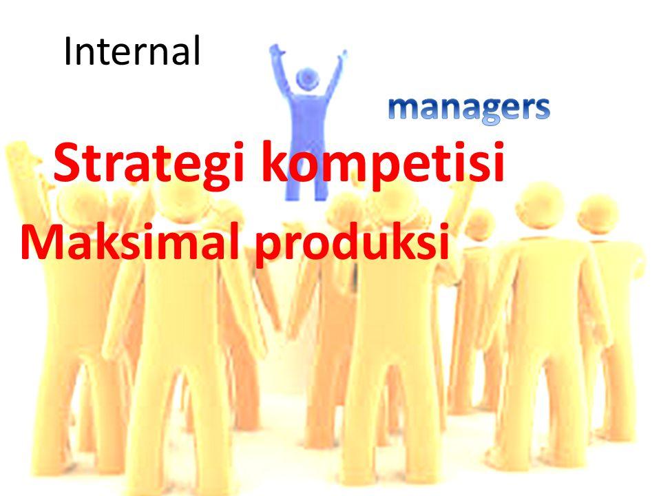Internal managers Strategi kompetisi Maksimal produksi