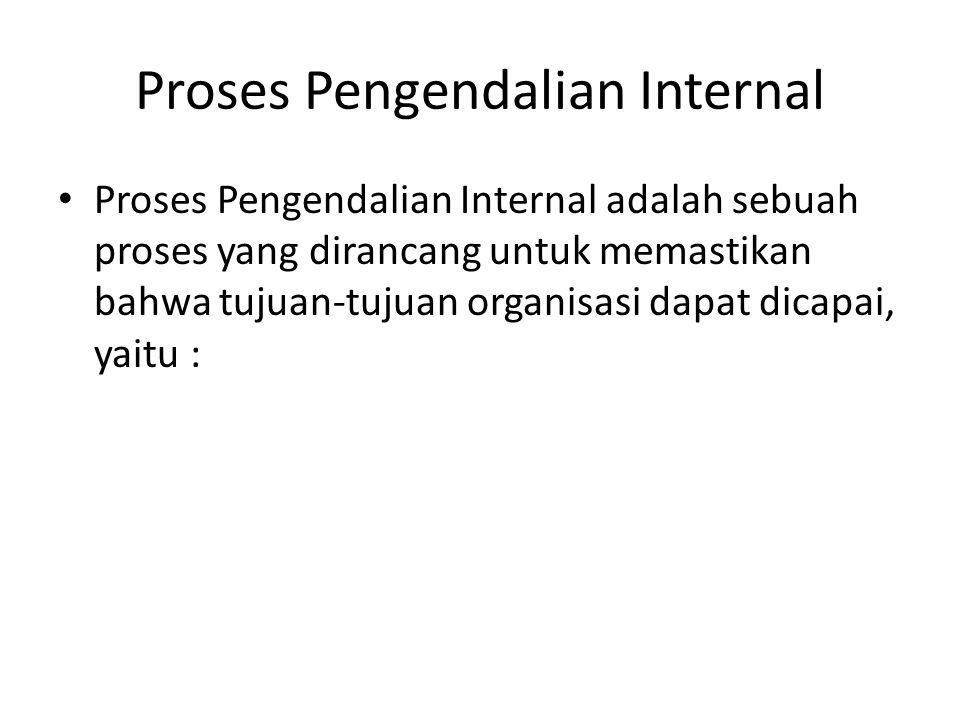 Proses Pengendalian Internal