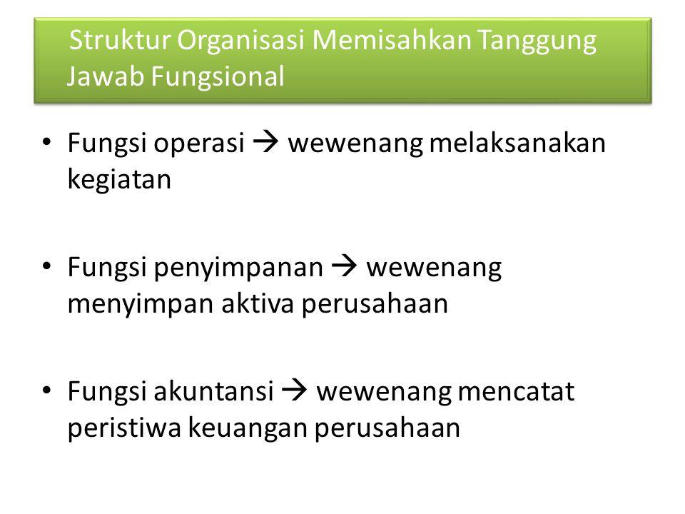 Struktur Organisasi Memisahkan Tanggung Jawab Fungsional