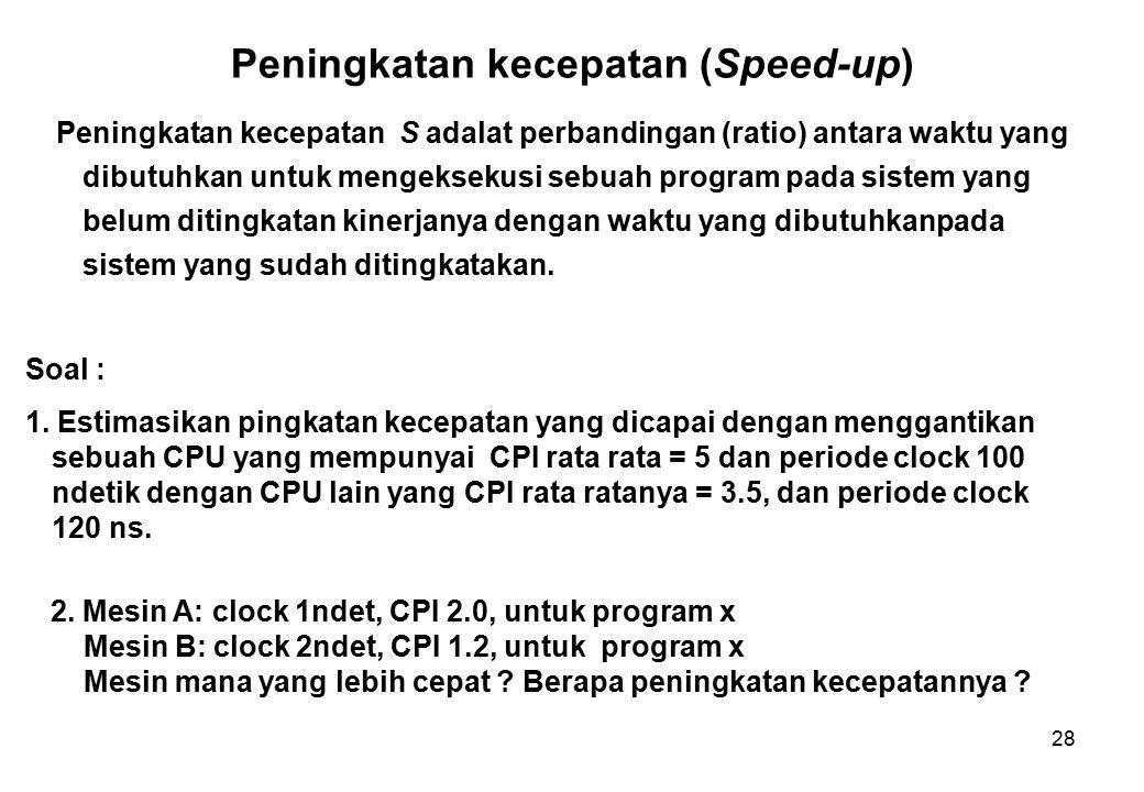 Peningkatan kecepatan (Speed-up)