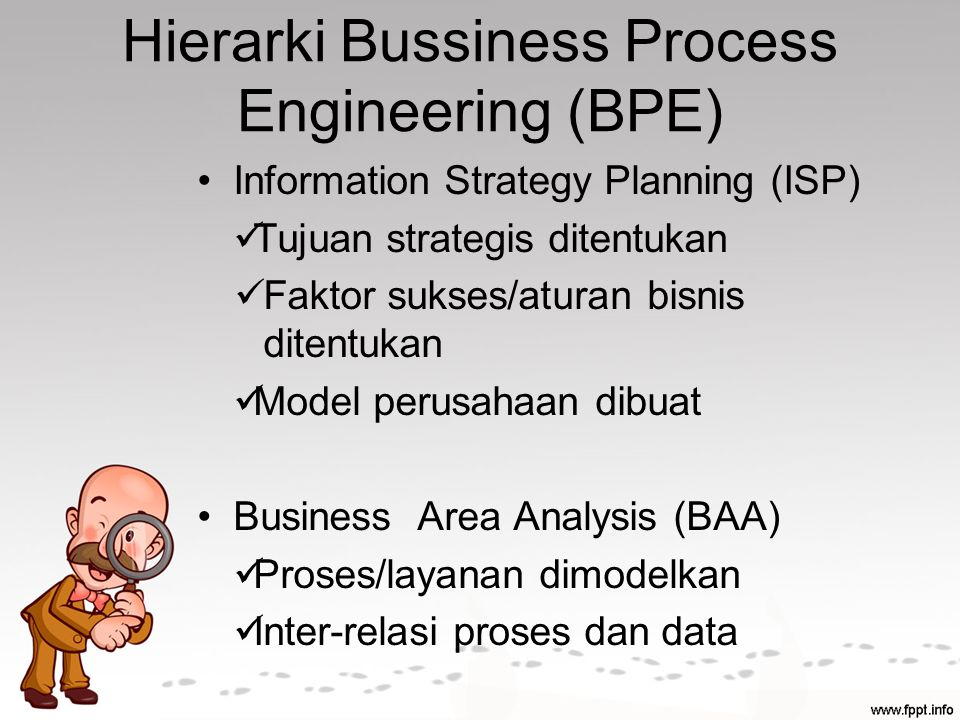 Hierarki Bussiness Process Engineering (BPE)