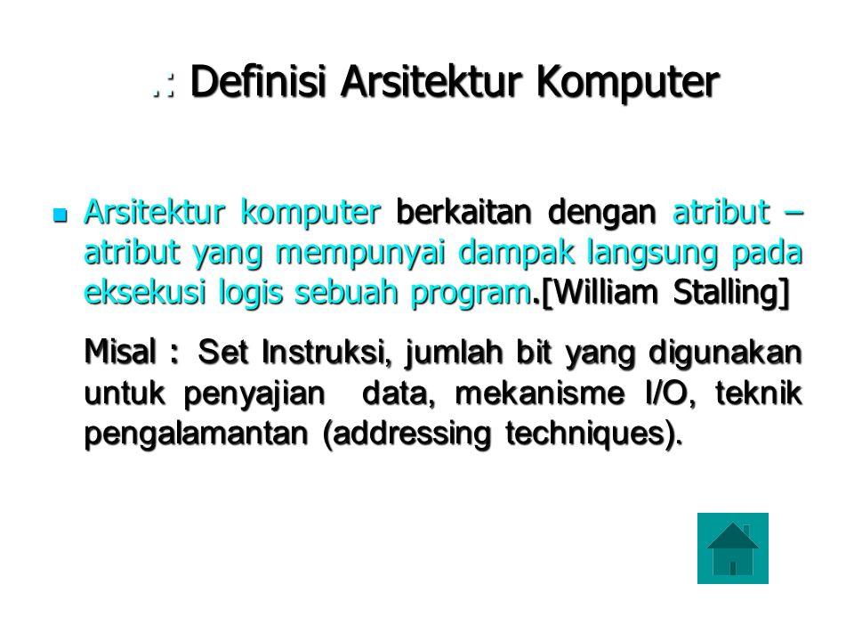 .: Definisi Arsitektur Komputer