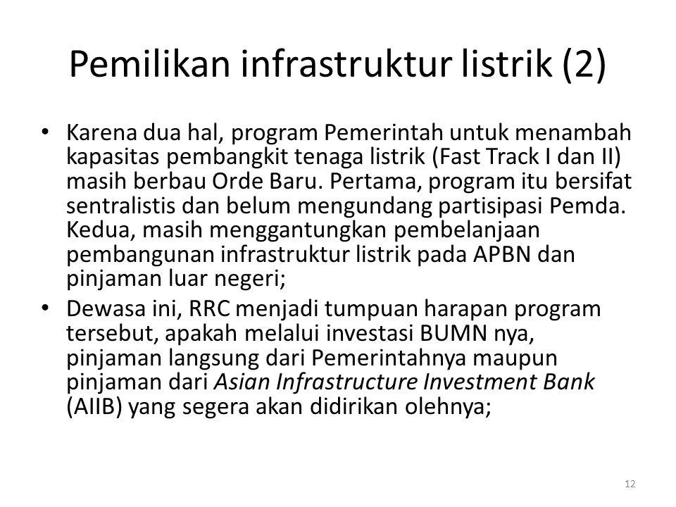 Pemilikan infrastruktur listrik (2)