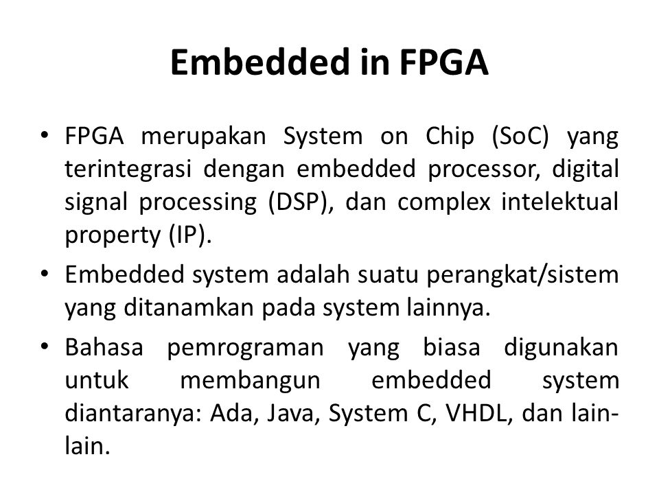 Embedded in FPGA