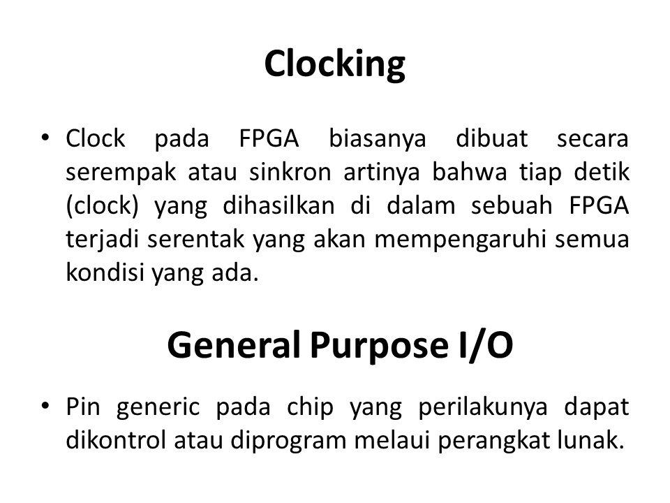 Clocking General Purpose I/O