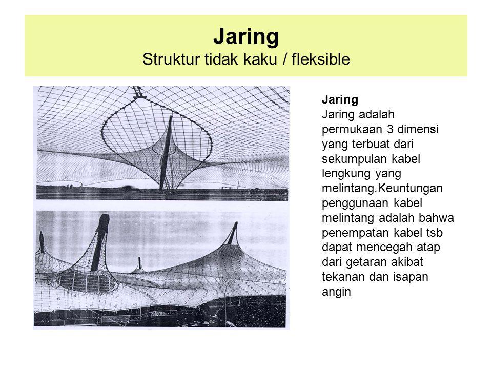 Jaring Struktur tidak kaku / fleksible