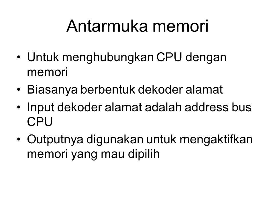 Antarmuka memori Untuk menghubungkan CPU dengan memori