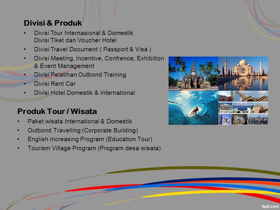 Divisi & Produk Produk Tour / Wisata