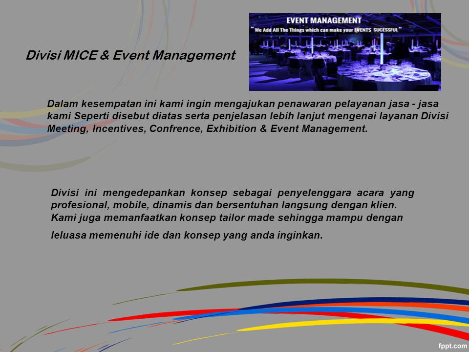 Divisi MICE & Event Management