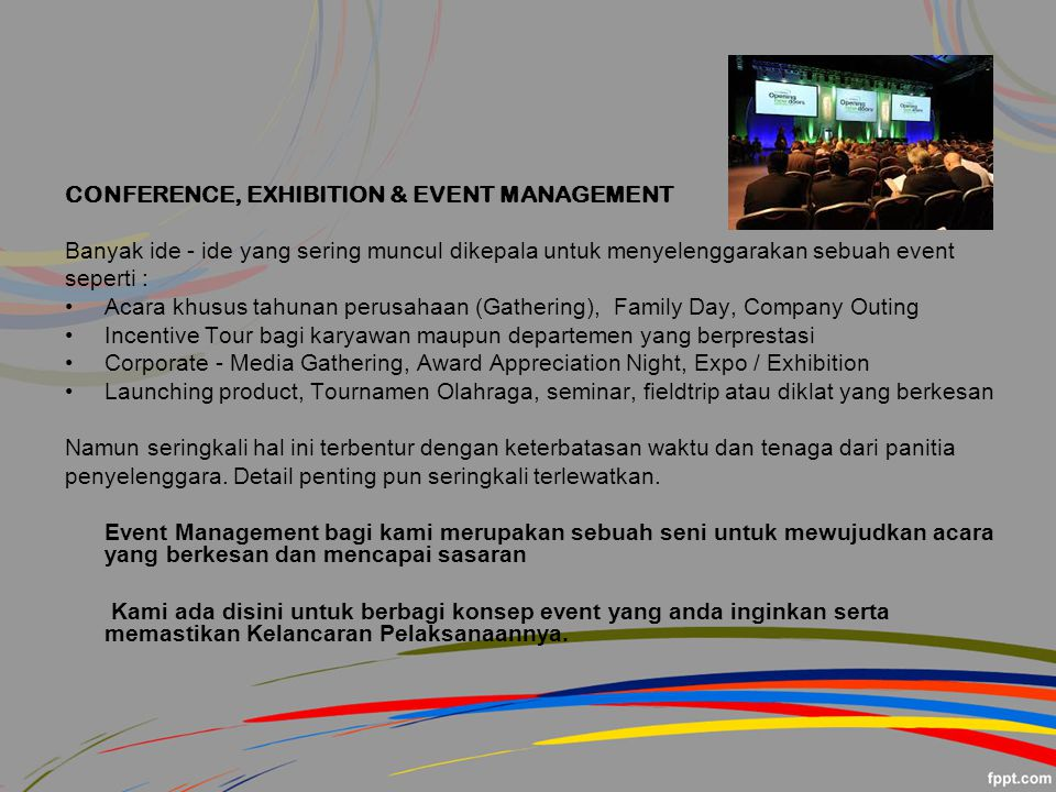 CONFERENCE, EXHIBITION & EVENT MANAGEMENT