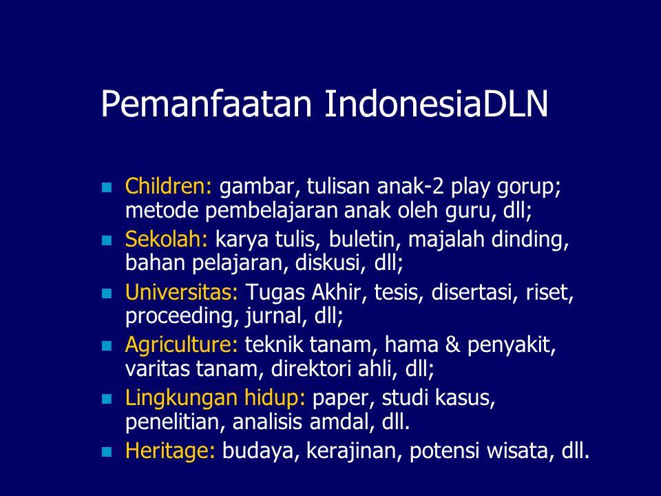 Pemanfaatan IndonesiaDLN