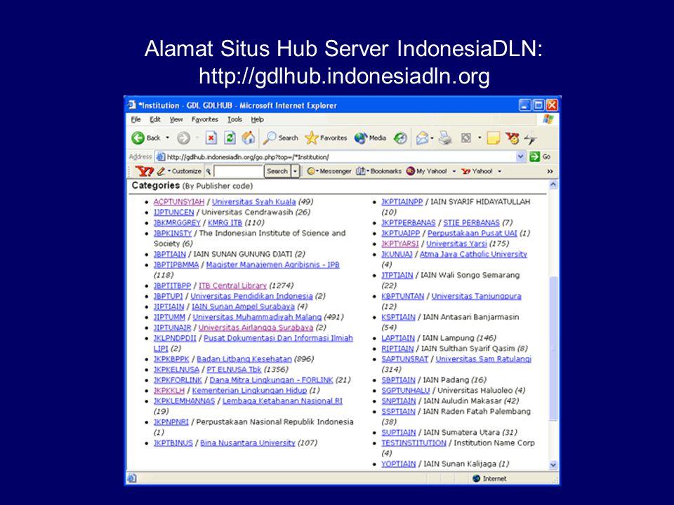 Alamat Situs Hub Server IndonesiaDLN: