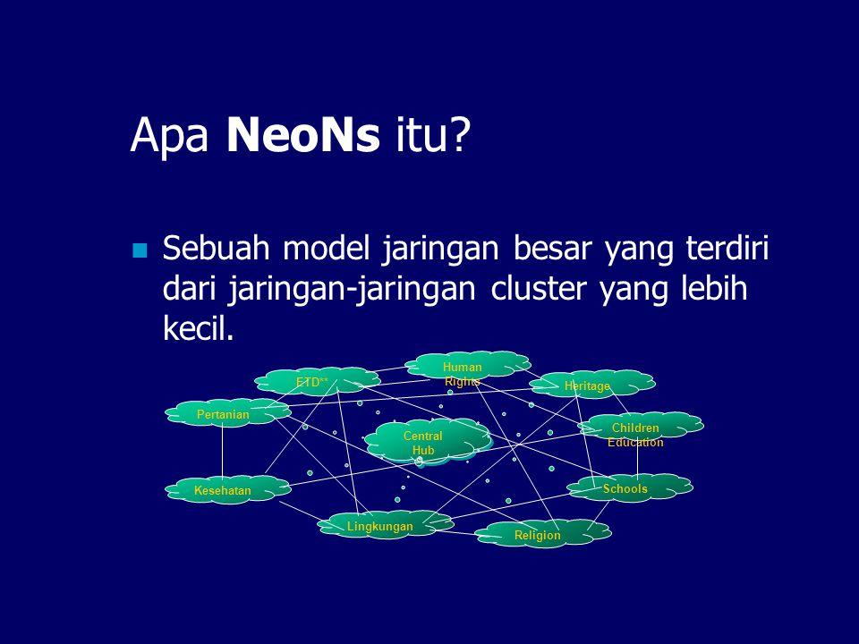 Apa NeoNs itu Sebuah model jaringan besar yang terdiri dari jaringan-jaringan cluster yang lebih kecil.