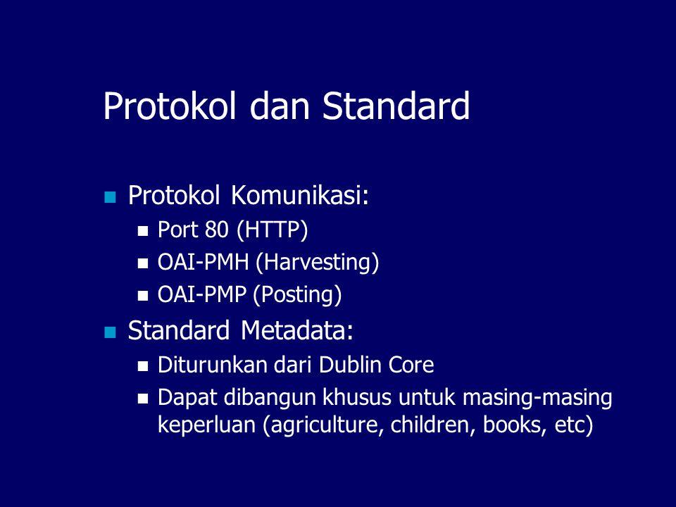 Protokol dan Standard Protokol Komunikasi: Standard Metadata: