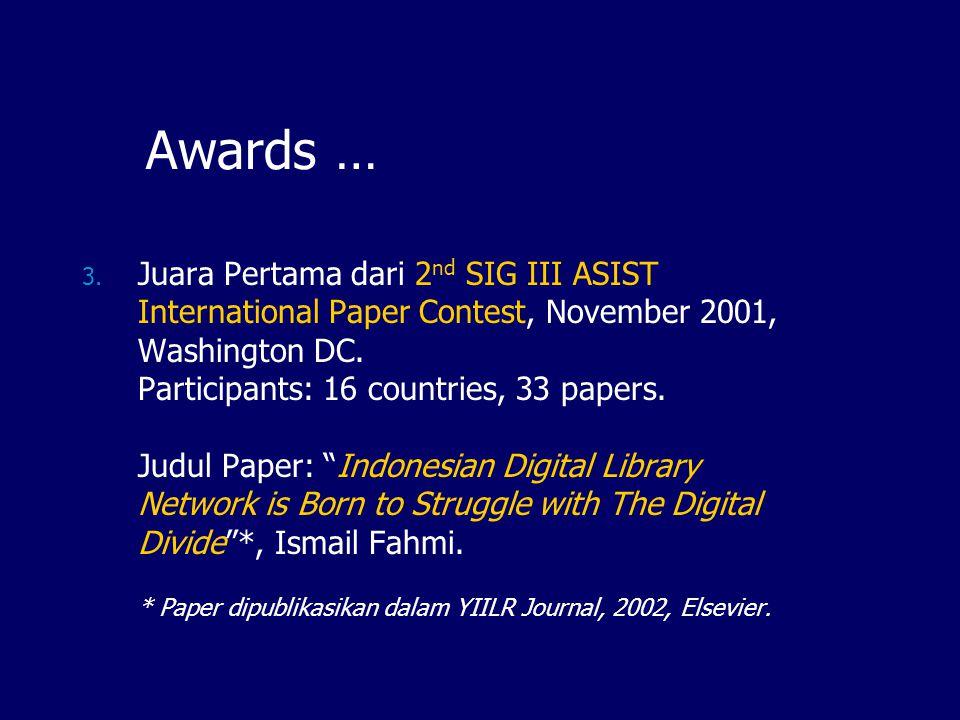 Awards …