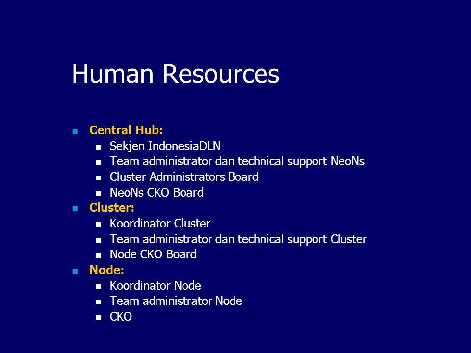 Human Resources Central Hub: Sekjen IndonesiaDLN