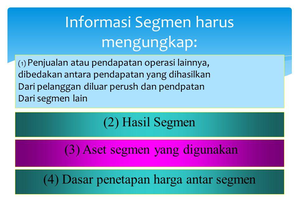 Informasi Segmen harus mengungkap: