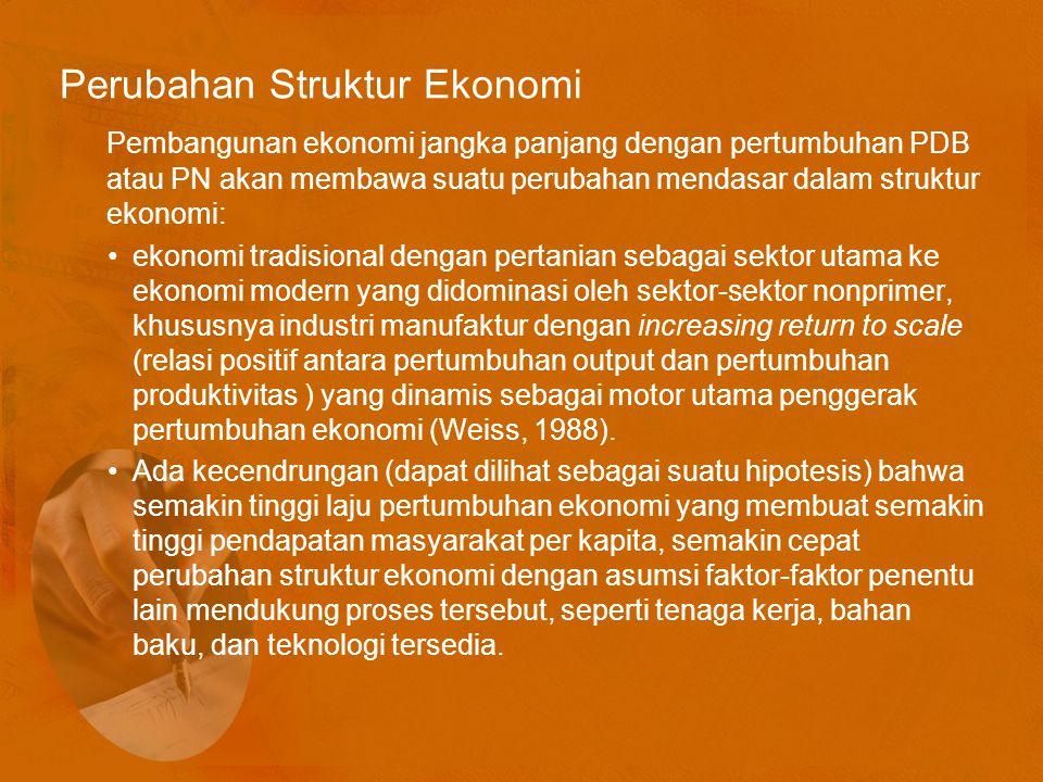 Perubahan Struktur Ekonomi