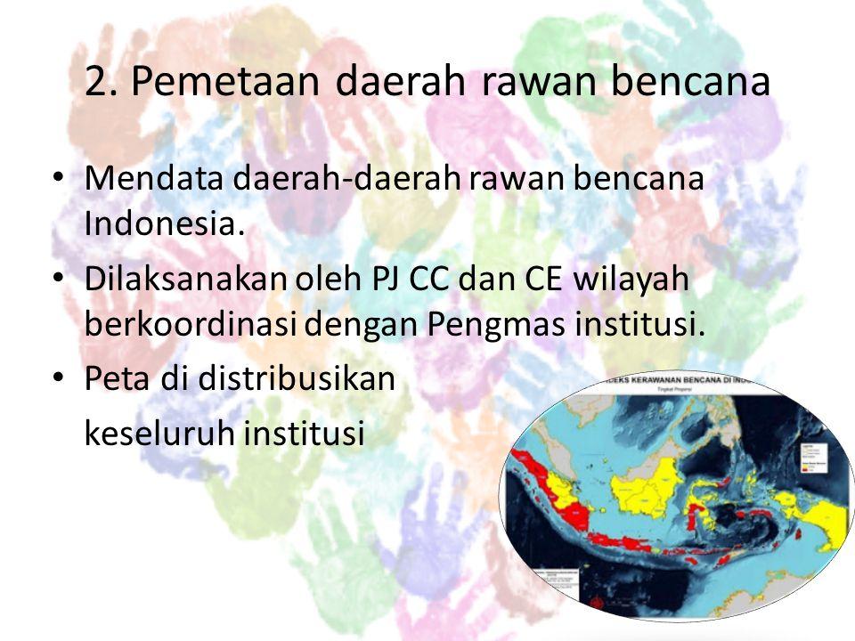 2. Pemetaan daerah rawan bencana
