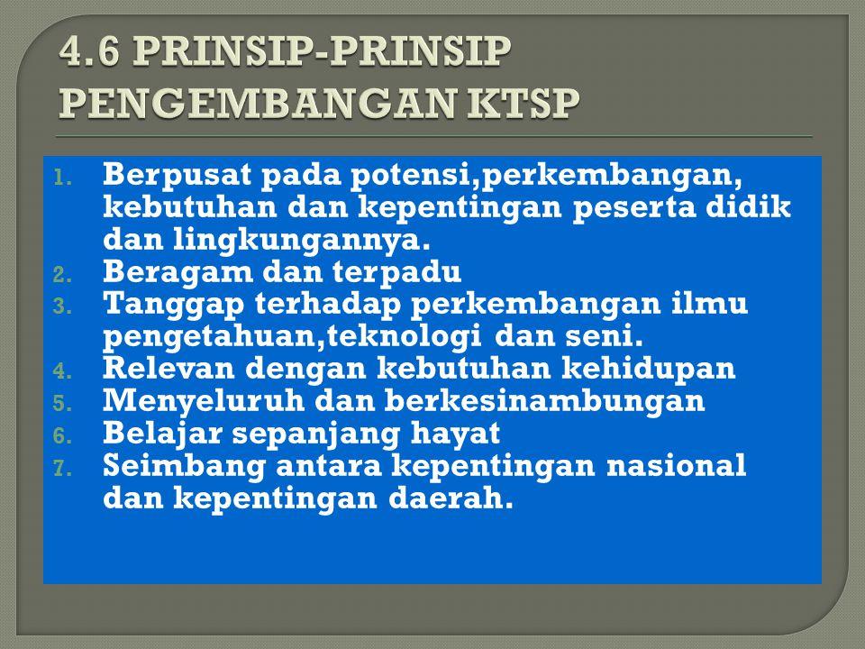4.6 PRINSIP-PRINSIP PENGEMBANGAN KTSP