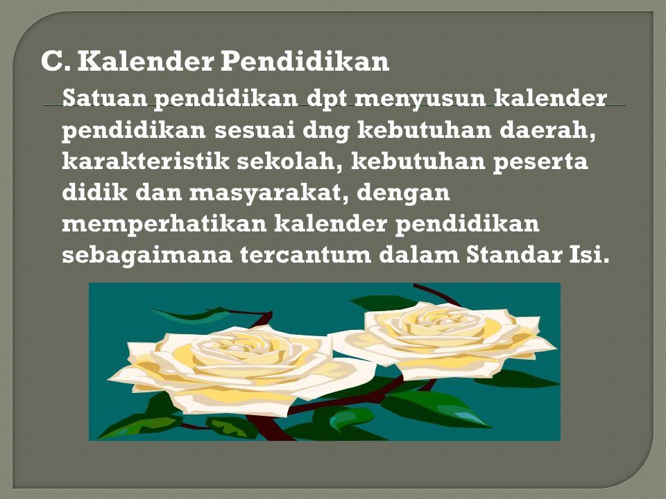 C. Kalender Pendidikan
