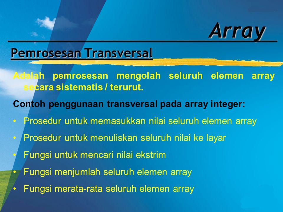 Pemrosesan Transversal