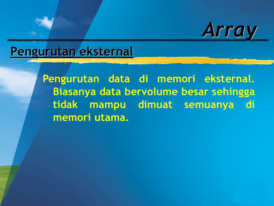 Array Pengurutan eksternal